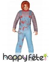 Costume de Chucky ensanglanté pour adulte