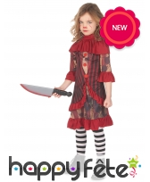Costume de clown d'Halloween pour fille, image 1