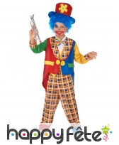 Costume de clown multicolore élégant pour enfant, image 1