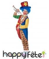 Costume de clown multicolore élégant pour enfant, image 2