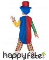 Costume de clown multicolore élégant pour enfant, image 3