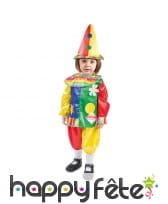 Costume de clown multicolore pour fille