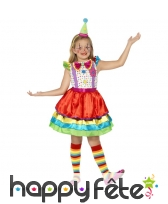Costume de clown pour petite fille, modèle luxe
