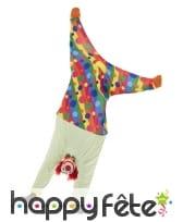 Costume de clown qui fait le poirier pour adulte