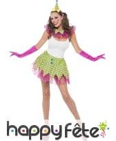 Costume de clown sexy en tutu pour femme, image 1