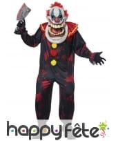 Costume de clown tueur avec grosse tête