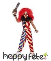 Costume de clown tueur manches courtes pour fille, image 1
