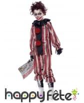 Costume de clown tueur rouge et noir pour garçon, image 1