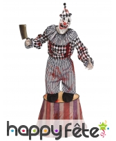 Costume de clown tueur sur podium pour adulte