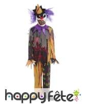Costume de clown zombie pour enfant, image 1