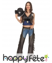 Costume de cow girl avec chaps