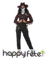 Costume de cowgirl squelette pour adulte, image 1