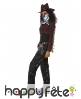 Costume de cowgirl squelette pour adulte, image 2