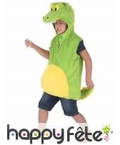 Costume de crocodile vert pour enfant, rembourré, image 1