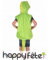 Costume de crocodile vert pour enfant, rembourré, image 2