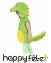 Costume de crocodile vert pour enfant, rembourré, image 3