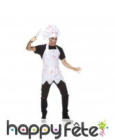 Costume de cuisinier zombie pour homme