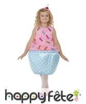 Costume de cupcake rose et bleu pour enfant