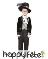 Costume du chapelier fou pour garçon, noir blanc, image 1