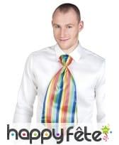 Cravate de clown géante et multicolore