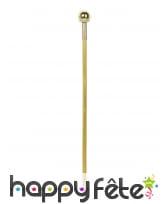 Canne dorée dandy pimp avec petits diamants, 92 cm