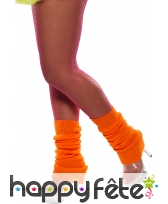 Chaussettes de danse orange fluo