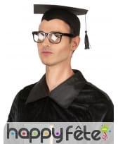 Coiffe de diplômé en feutrine noire, image 1
