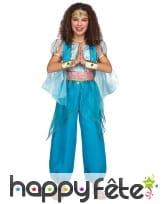 Combinaison de danseuse orientale pour fille, bleu