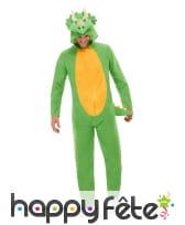 Combinaison de dinosaure vert pour adulte
