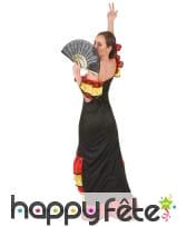 Costume danseuse de flamenco rouge noir or, image 3