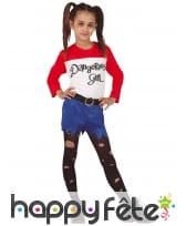 Costume de dangerous girl pour enfant