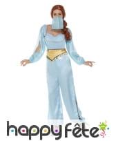 Costume de danseuse orientale bleu pour femme, image 1