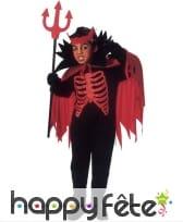 Costume de diable squelette pour enfant