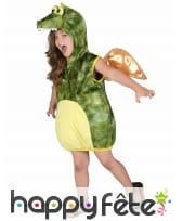 Costume de dinosaure vert pour enfant, rembourré, image 1