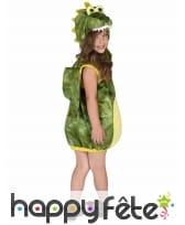Costume de dinosaure vert pour enfant, rembourré, image 2