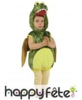 Costume de dinosaure vert pour enfant, rembourré, image 3