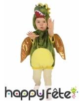 Costume de dinosaure vert pour enfant, rembourré, image 4
