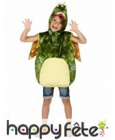 Costume de dinosaure vert pour enfant, rembourré, image 5