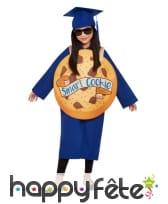 Costume de diplômé bleu Smart cookie