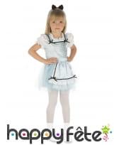 Costume de Dorothé vichy blanc bleu pour enfant