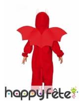 Costume de dragon rouge ventre blanc pour enfant, image 1