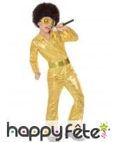 Costume disco doré pour garçon