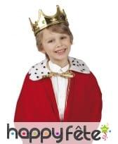 Couronne dorée de roi pour enfant