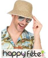 Chapeau d'explorateur en paille beige, image 1