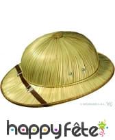Chapeau d'explorateur en paille