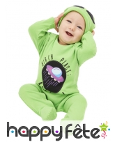 Combinaison d'extraterrestre vert pour bébé, image 1
