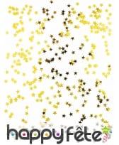 Confettis dorés en forme d'étoile, 50g, image 1
