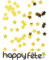 Confettis dorés en forme d'étoile, 50g