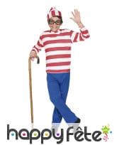 Costume d'écolier rayé pour enfant