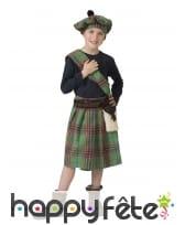 Costume d'écossais vert pour enfant